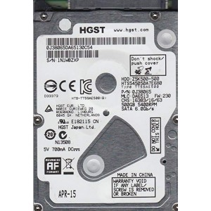 "Твърд диск 2.5"" 500GB SATA3 5400/8MB, Hitachi Travelstar Z5K500"