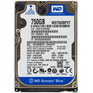 "Твърд диск 2.5"" 750GB Western Digital Blue"