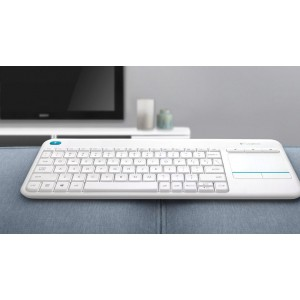 Клавиатура Logitech Wireless Touch K400 Plus White