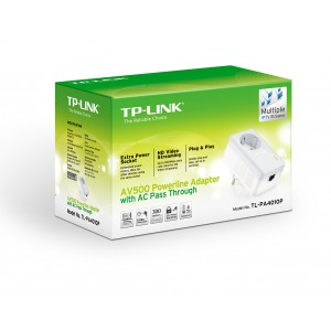 Powerline адаптер AV500 Starter Kit, TP-Link TL-PA4010P KIT