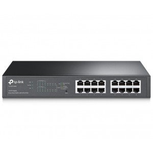 Комутатор 16-Port Gigabit Easy Smart PoE Switch with 8-Port PoE+, TP-Link TL-SG1016PE