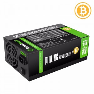 Захранване 2000W APFC 90+ Gold Bitcoin Mining 18xPCIe, Gamemax GM-2000