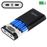 Power Bank 10,000 mAh Case Kit w/18650 Battery Charger Holder