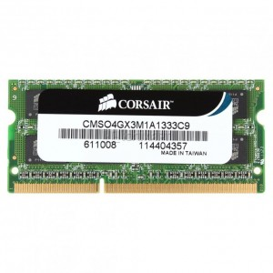 Памет SODIMM DDR3-1333 4GB, Corsair